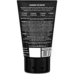 Man Arden De Tan Brightening Face Scrub 100ml – De-Tans & Exfoliates Skin – With Vitamin C