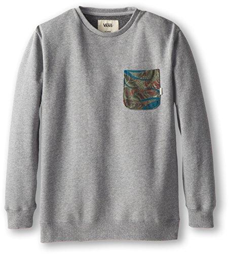Vans Kids Boy's Lewiston (Big Kids) Concrete Heather/Tropical Camo Sweatshirt SM (8 Big Kids)