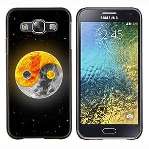 For Samsung Galaxy E5 E500 Case , Yin yang Luna Sol- Diseño Patrón Teléfono Caso Cubierta Case Bumper Duro Protección Case Cover Funda
