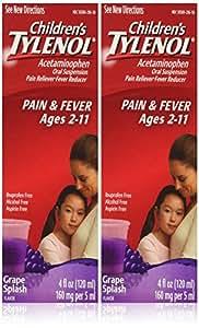 Children's Tylenol, Grape Splash Flavor - 4 oz. - 2 pk.