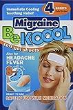 Be Koool Gel Sheets for Adults Migraine, 4 Count (Pack of 3) by BeKoool