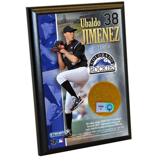 Ubaldo Jimenez 4 Inch X 6 Inch Dirt Plaque from Steiner Sports