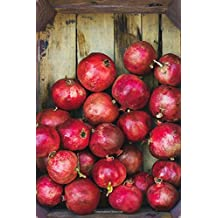 Ripe Pomegranates in a Wooden Crate Journal: 150 Page Lined Notebook/Diary