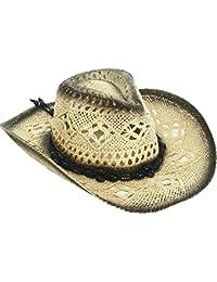 3eb51322185 Men   Women s Woven Straw Cowboy Hat w Hat Band Décor