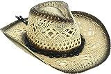 Livingston Men & Women's Woven Straw Cowboy Hat w/Hat Band Décor