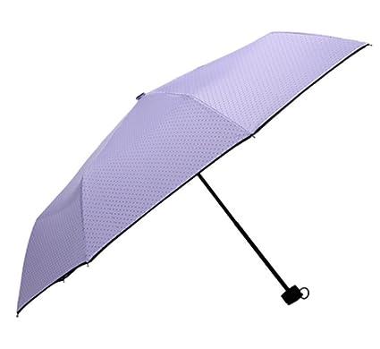 BiuTeFang Paraguas Paraguas sombrillas protectores solares ultraligero puntos sombrillas 56x96cm