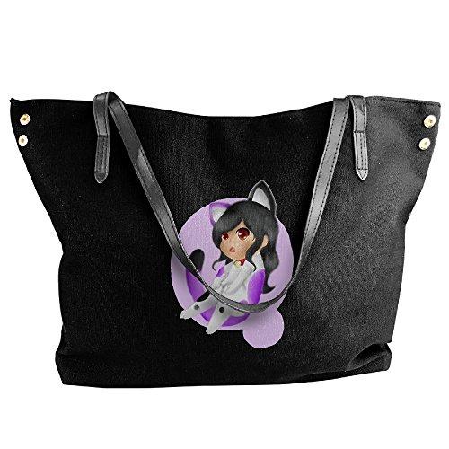 Ideas Jetson Costume (Aphmau Cat Women Canvas Stripe Handbag Cross Body Shoulder Bags Tote Satchel Messenger)