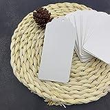 White Kraft Paper Gift Tags, 100pcs Rectangle Craft