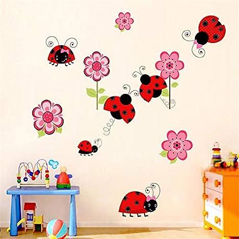 Doitsa Sticker Mural Color/é Animaux Mignons Singe Chouette et Grand Arbre Amovible D/écoration de Maison