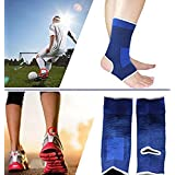 Ankle Care Compression Breathable Brace Sleeve Strap Pair for Stability, Support. Best for Hiking, Running, Basketball Sprain Pain Relief, Relieve Arch Pain Reduce Foot Swelling Stabilizer Women, Men