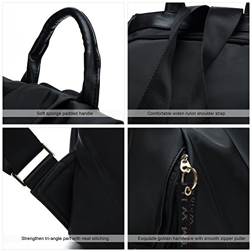 Resistant Ali Nylon Black Anti New Water Theft Victory Backpacks Women's Black qRwOxOBXC
