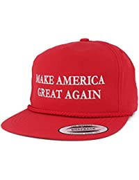Make America Great Again Hat With Donald Trump Embroidered Cap (One Size, Red)