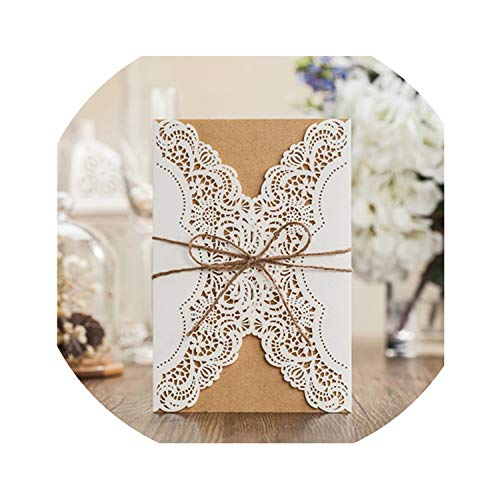 qiao-qiao-store 50pcs Luxury Wedding Invitation Cards Kits with Envelopes Cut Birthday Greeting Card Wedding Decoration Party Supplies-in Cards & Invitations from Home & Garden from qiao-qiao-store