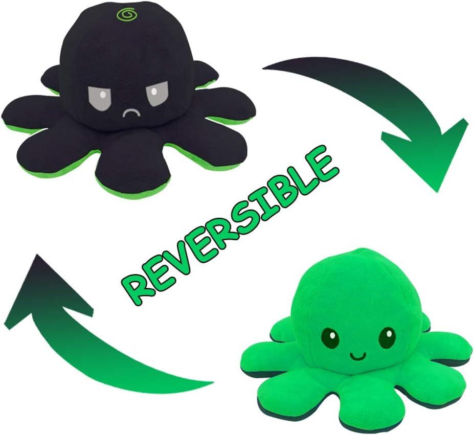 N\ A Octopus Plush Toys 10cm//A Octopus Doll Flip Doble Cara Octopus Plush Toy Octopus Marine Life Toys Ni/ños 20