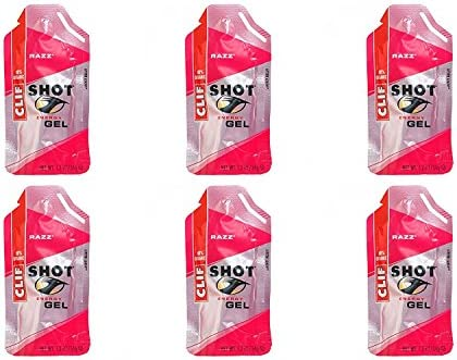 Clif Shot Gel – Razz – 6 Pack 6 x 1.2oz Packs