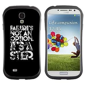 Paccase / Suave TPU GEL Caso Carcasa de Protección Funda para - failure is not an option poster text - Samsung Galaxy S4 I9500