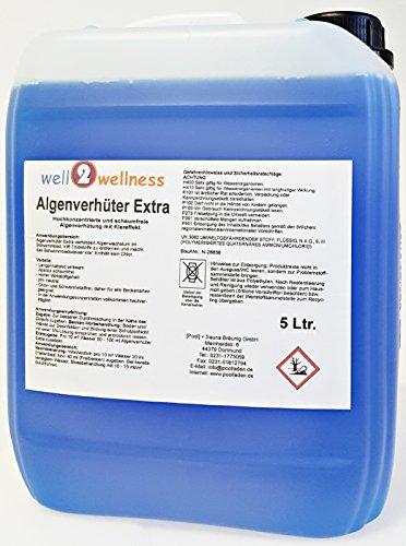 well2wellness Pool Algenverhüter + Algenvernichter Extra 'BLUE' 5,0 l - hochkonzentriert + schaumfrei
