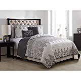 VCNY Home Andros Quilt Set, Twin/X-Large, Grey