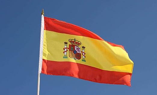NiDea ND_Bandera España 88 x 58 cm – Bandera española – Interior y Exterior: Amazon.es: Jardín