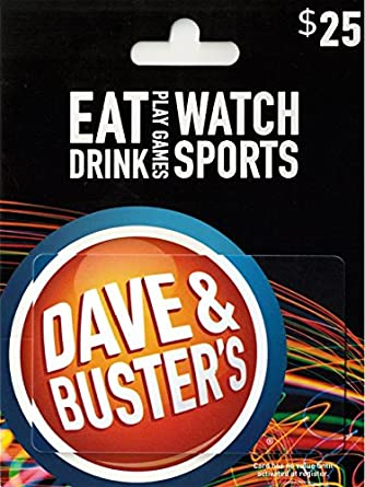 graphic relating to Dave and Busters Coupons Printable titled : Dave Busters Present Card $25: Reward Playing cards