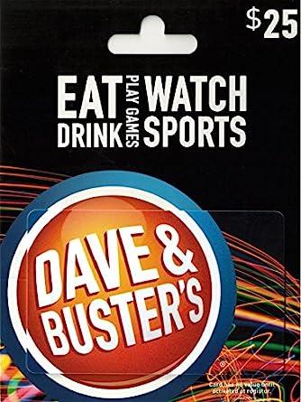 Amazon.com: Tarjeta de regalo de Dave & Busters: Tarjetas de ...