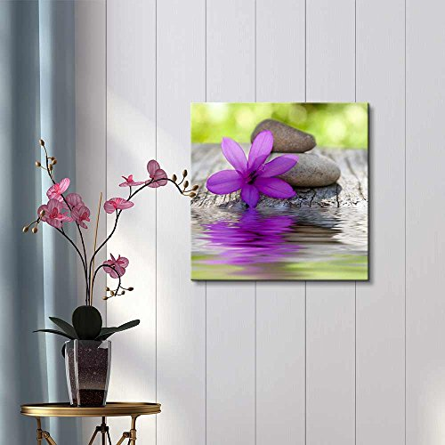 Natural Flower with Stones and Water Spa Zen Wellness Concept Wall Decor