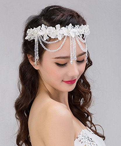 Image Unavailable. Image not available for. Color  ASIN Bling Diamond  Crystal Pearl Bride Bridal Wedding Accessory Hair Head Band ... 61ffbc16b67d