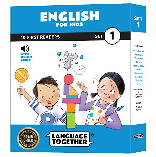 English for Kids: 10 First Reader Books with Online Audio, Set 1 by Language Together (English Kids Books)