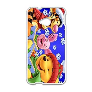 New Style Custom Picture Winnie the pooh Case Cover For HTC M7