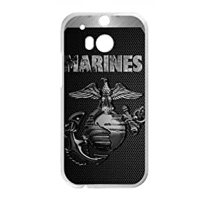 Marines StylishHigh Quality Comstom Plastic case cover For HTC M8
