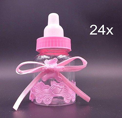 12 opinioni per JZK® 24 x Rosa biberon stile, bottiglia bottiglina bottigliette portaconfetti