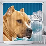 Pawzglore American Staffordshire Terrier Print Shower Curtains 5