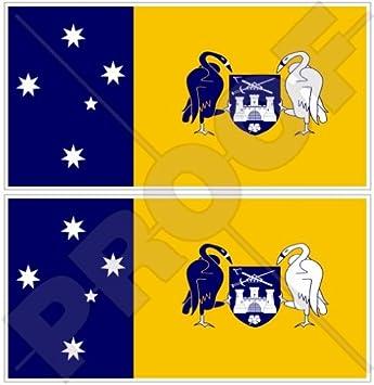 Australian capital territory canberra flag act australia 43 110mm vinyl bumper