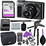 Canon Powershot SX620 Point & Shoot Digital Camera Bundle w/ Tripod Hand Grip , 64GB SD Memory , Case and More (Black)