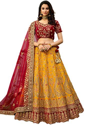Fast-Fashions-Womens-Embroidered-Semi-Stitched-Lehenga-Choli-FF-5315YellowFree-Size