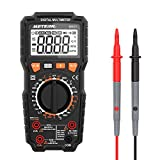 Meterk Digital Multimeter, 6000 Counts True RMS Multi Tester AC/DC Voltage Current Resistance Capacitance Frequency Temperature NCV Live Line Tester with LCD Flashlight