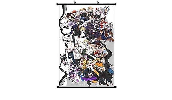 JinJiJiaZheng Anime Danganronpa V3 Scroll p/óster de dibujos animados de anime cartel de tela impermeable para colgar en la pared ideal para fans del anime