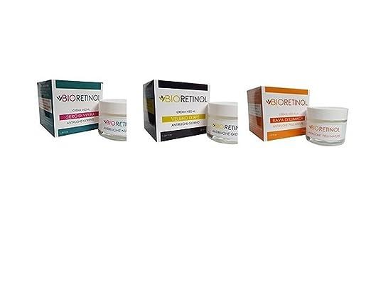 3 opinioni per Kit 3 creme antirughe BIO-RETINOL : 1 crema siero di vipera + 1 crema veleno