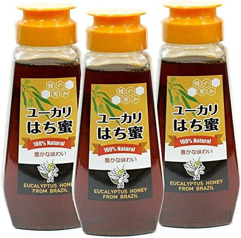 ユーカリはち蜜 サンフローラ ブラジル産 バルブボトル 300gx3本