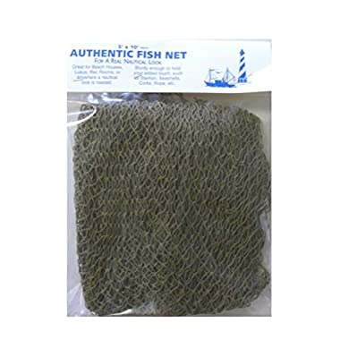 Authentic Nautical Fish Net - Decorative Use 5' X 10' New