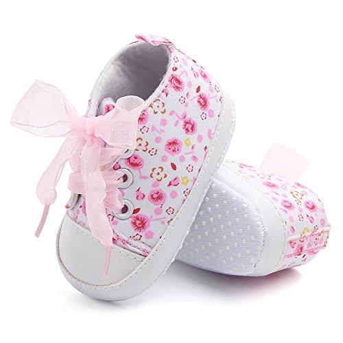 Yulan Riemchen Design Baby Kleinkind Schuhe Baby Mädchen Cute rutschfeste Schuhe (blau, violett, pink) pink13