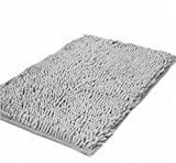 Small Rugs Ustide Light Gray Shaggy Chenille Rug Non Slip Microfiber Small Carpet Durable Doormat Bathroom Non Slip Area Rugs