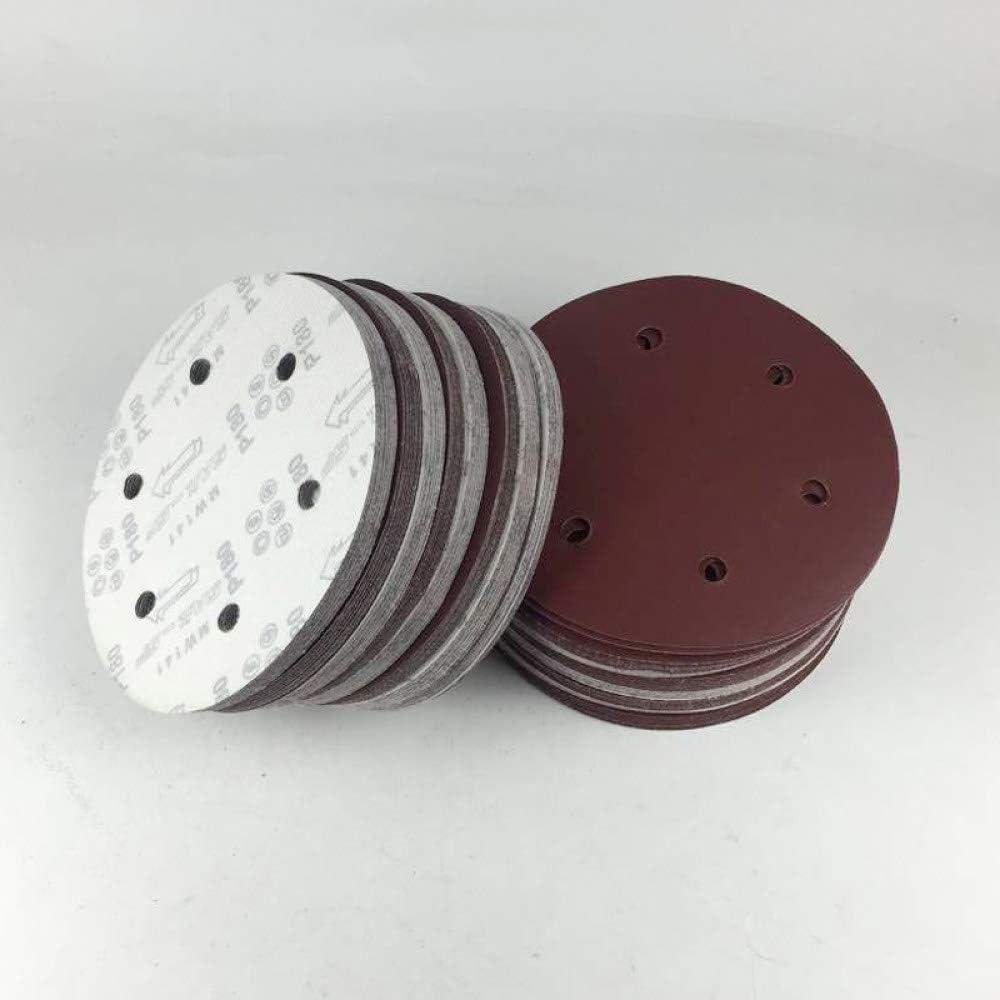 grain 100 FQD/&BNM Papier de verre Haute qualit/é 10PCS 150mm///6 pouces Sander Sandpaper Hook /& amp;/Papier /à poncer abrasif Loop Grits 60 80 120 180 240-2000 NOUVEAU