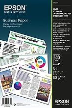 Epson Business Paper 80gsm 500 shts A4 (210×297 mm) Blanco - Papel (A4 (210×297 mm), Impresión por inyección de tinta, Blanco, 80 g/m², 500 hojas)