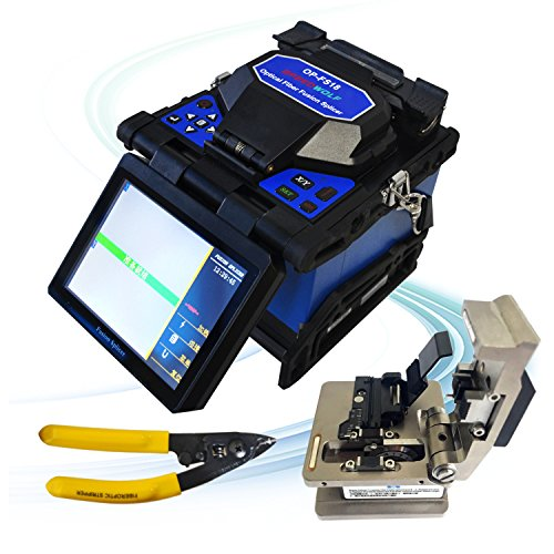 SPEEDWOLF 5'' LCD High Precision Fiber Optic Fusion Splicer Machine for SM, MM, NZ-DS, EDF Fibers with Optical Fiber Cleaver and Automatic Focus Function(OP-FS18) by SPEEDWOLF