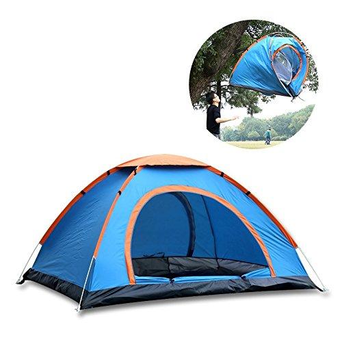 Bestwind Outdoor Camping Zelt Doppeltür Ultralight Zelt 2 3-4 Personen Zelt Schnell Automatische Öffnung Hand Werfen Wasserdicht Zelt CK101G