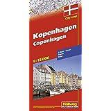 Kopenhagen Stadtplan 1:15 000: S-Bahn, Transit, Index (Hallwag Stadtpläne)