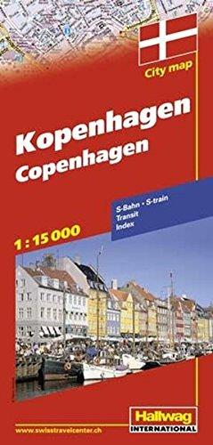 Copenhague : 1/15 000 (Anglais) Carte – Carte pliée, 27 janvier 2005 Hallwag International Bern 3828305253 Maps