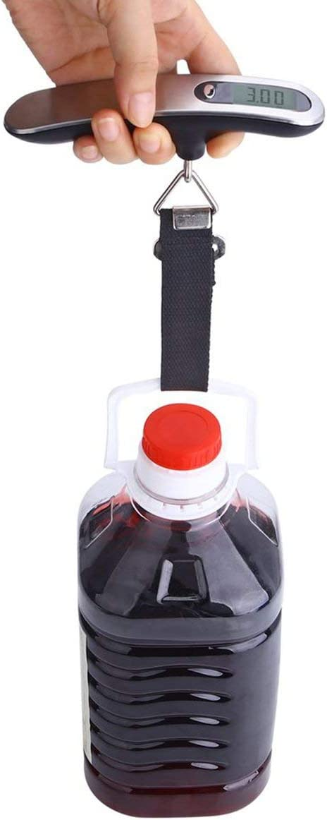 P/èse-bagage /électronique num/érique Muiltifunction portable voyage 50 kg couleur: Argent et Gris mesures Poids Poids Outils de mesure