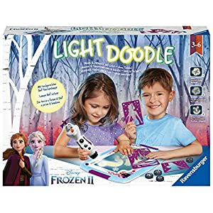 Ravensburger Lightdoodle 18086 Creative Drawing Game Frozen 2 for Children Aged 3 and Above French Version